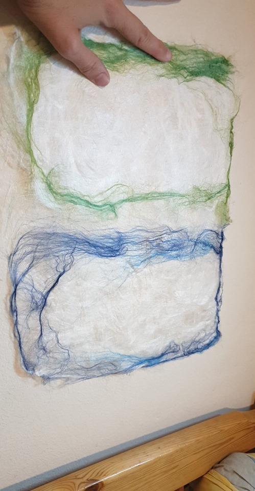 Skrivbart silkepapper